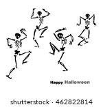 halloween card design with... | Shutterstock .eps vector #462822814