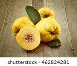 quince fruits on wooden... | Shutterstock . vector #462824281