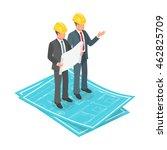 vector 3d isometric concept of... | Shutterstock .eps vector #462825709