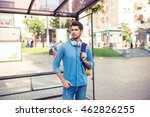 handsome young man  waiting his ... | Shutterstock . vector #462826255