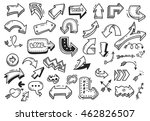 set of arrow doodle isolated on ... | Shutterstock .eps vector #462826507