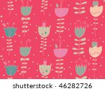 bright floral seamless pattern | Shutterstock . vector #46282726
