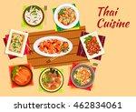 thai cuisine dinner flat symbol ...   Shutterstock .eps vector #462834061