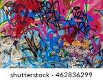 beautiful street art of... | Shutterstock . vector #462836299