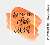 sale season summer 30  off sign ... | Shutterstock .eps vector #462842611