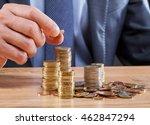 businessman puts coin  closeup... | Shutterstock . vector #462847294