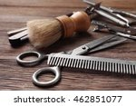 Vintage Tools Of Barber Shop O...