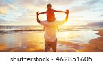 father and son playing on the...   Shutterstock . vector #462851605