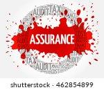assurance word cloud collage ... | Shutterstock .eps vector #462854899