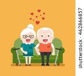 retired elderly senior age... | Shutterstock .eps vector #462866857
