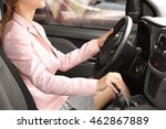 woman driving car | Shutterstock . vector #462867889