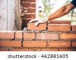 industrial bricklayer worker...