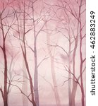 watercolor forest art. hand... | Shutterstock . vector #462883249