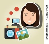 woman photo search graphic... | Shutterstock .eps vector #462894925