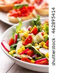 mixed salad | Shutterstock . vector #462895414