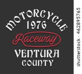 motorcycle raceway typography ... | Shutterstock .eps vector #462895765
