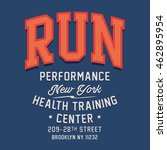 athletic run typography  t... | Shutterstock .eps vector #462895954