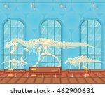 tyrannosaur rex bones skeleton...