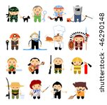 set of cartoon characters.... | Shutterstock .eps vector #46290148