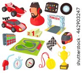 race icons set in cartoon style.... | Shutterstock .eps vector #462903247