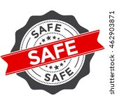 safe stamp vector icon   badge  ... | Shutterstock .eps vector #462903871