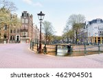 typical street in amsterdam ... | Shutterstock . vector #462904501