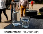 a glass of water and a water... | Shutterstock . vector #462904684