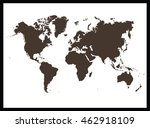 world map | Shutterstock .eps vector #462918109