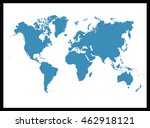 world map | Shutterstock .eps vector #462918121