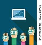 stock market game. hand money.... | Shutterstock .eps vector #462918931