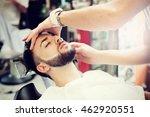 traditional ritual of shaving...   Shutterstock . vector #462920551