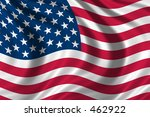 flag of the usa waving in the... | Shutterstock . vector #462922