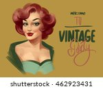 pin up woman. retro party...   Shutterstock . vector #462923431