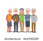 group of elderly people stand... | Shutterstock . vector #462930289