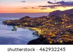 aerial view of funchal by night ... | Shutterstock . vector #462932245