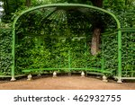 Gazebo With Bench In The Park...