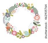 vector adorable floral... | Shutterstock .eps vector #462935764