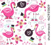 vector charming pattern of pink ... | Shutterstock .eps vector #462935809