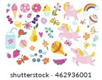 wonderful magical set of... | Shutterstock .eps vector #462936001