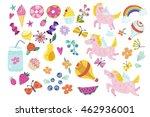 wonderful magical set of... | Shutterstock .eps vector #462936001