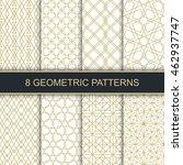 set of vector geometric... | Shutterstock .eps vector #462937747