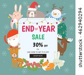 christmas sale design template | Shutterstock .eps vector #462940294