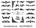 ornate scroll and decorative... | Shutterstock .eps vector #462940825