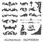 ornate scroll and decorative... | Shutterstock .eps vector #462940834