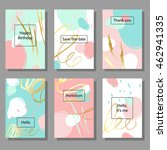 set of artistic colorful... | Shutterstock .eps vector #462941335