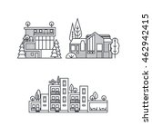 set of pictures from the... | Shutterstock .eps vector #462942415