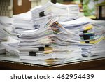 paper documents stacked in... | Shutterstock . vector #462954439