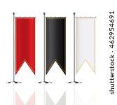 flag mockup  blank advertising... | Shutterstock .eps vector #462954691