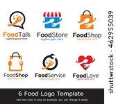 food logo template design vector | Shutterstock .eps vector #462955039