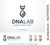 dna lab logo template design... | Shutterstock .eps vector #462955045